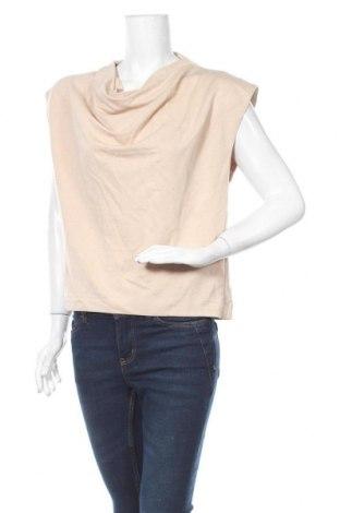 Дамска блуза Zara, Размер S, Цвят Бежов, 60% вискоза, 40% полиестер, Цена 3,00лв.