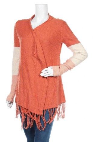 Дамска жилетка Piping Hot, Размер XS, Цвят Оранжев, Памук, Цена 7,09лв.