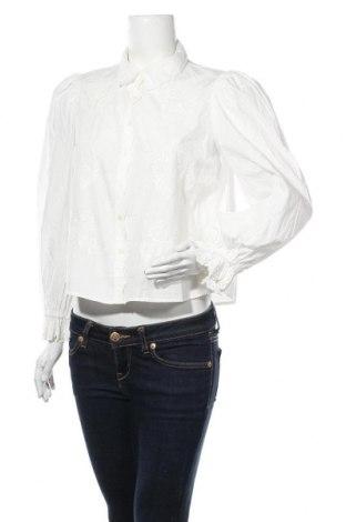 Cămașă de femei Zara, Mărime M, Culoare Alb, Bumbac, Preț 67,93 Lei