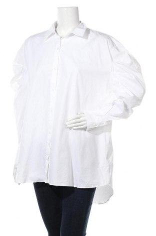 Дамска риза Zara, Размер M, Цвят Бял, Памук, Цена 17,70лв.