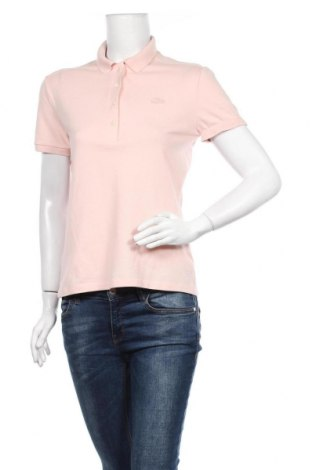 Дамска тениска Lacoste, Размер M, Цвят Розов, 94% памук, 6% еластан, Цена 63,00лв.