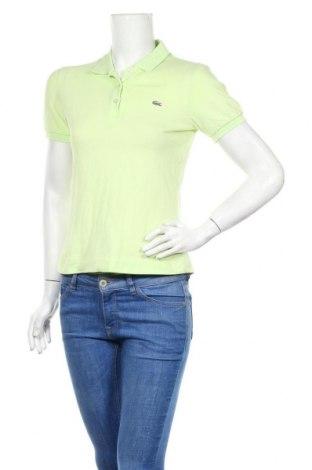 Дамска тениска Lacoste, Размер S, Цвят Зелен, 95% памук, 5% еластан, Цена 31,50лв.