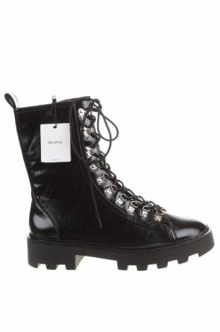 Dámské boty  Bershka, Velikost 40, Barva Černá, Eko kůže, Cena  550,00Kč