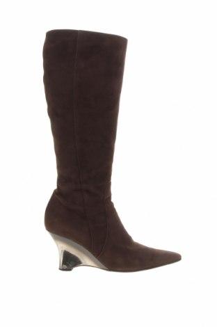 Γυναικείες μπότες Escada, Μέγεθος 37, Χρώμα Καφέ, Φυσικό σουέτ, Τιμή 53,59€