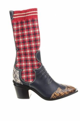 Γυναικείες μπότες Fendi, Μέγεθος 38, Χρώμα Πολύχρωμο, Κλωστοϋφαντουργικά προϊόντα, γνήσιο δέρμα, Τιμή 570,16€