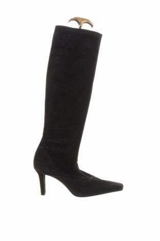 Γυναικείες μπότες Stuart Weitzman, Μέγεθος 36, Χρώμα Μαύρο, Φυσικό σουέτ, Τιμή 53,59€