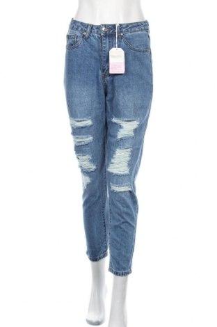 Дамски дънки, Размер M, Цвят Син, 90% памук, 10% полиестер, Цена 17,64лв.