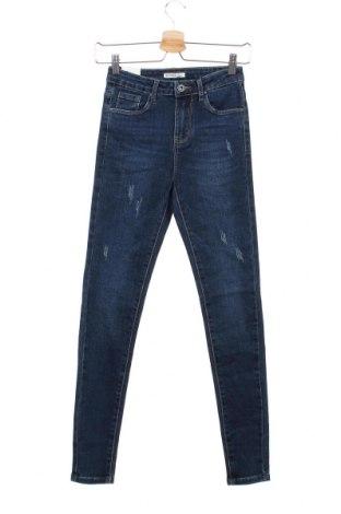 Дамски дънки, Размер XS, Цвят Син, 75% памук, 23% полиестер, 2% еластан, Цена 23,52лв.
