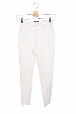 Дамски дънки Dotti, Размер XS, Цвят Бял, 98% памук, 2% еластан, Цена 19,85лв.