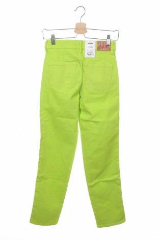 Дамски дънки Dua Lipa x Pepe Jeans, Размер XXS, Цвят Зелен, 99% памук, 1% еластан, Цена 24,37лв.