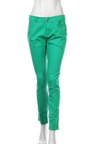 Дамски дънки Emerson, Размер L, Цвят Зелен, Памук, еластан, Цена 23,63лв.