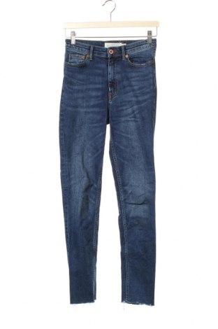 Дамски дънки H&M L.O.G.G., Размер XS, Цвят Син, 98% памук, 2% еластан, Цена 11,34лв.