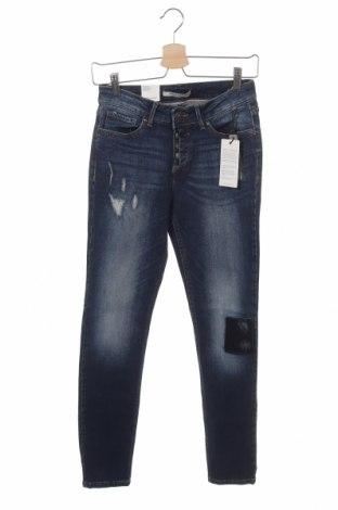 Дамски дънки H.i.s, Размер XS, Цвят Син, 99% памук, 1% еластан, Цена 24,36лв.