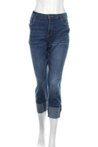 Дамски дънки Linea Tesini, Размер XL, Цвят Син, 76% памук, 16% полиестер, 7% вискоза, 1% еластан, Цена 42,00лв.