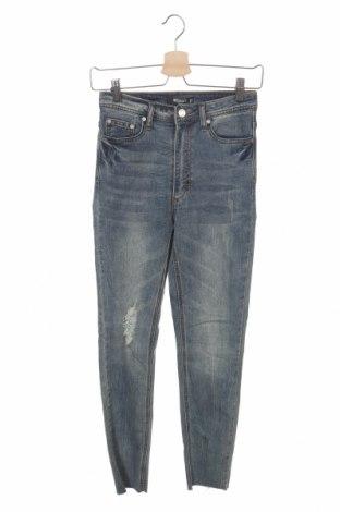 Дамски дънки Missguided, Размер XS, Цвят Син, 98% памук, 2% еластан, Цена 19,40лв.