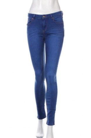 Дамски дънки New Look, Размер M, Цвят Син, 99% памук, 1% еластан, Цена 8,82лв.