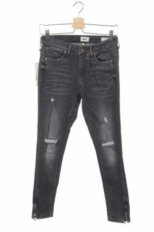 Dámské džíny  ONLY, Velikost S, Barva Šedá, 98% bavlna, 2% elastan, Cena  236,00Kč