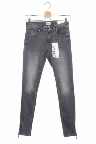 Дамски дънки ONLY, Размер M, Цвят Сив, 92% памук, 8% еластан, Цена 20,10лв.