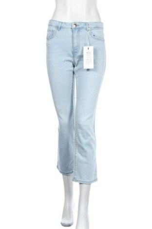 Дамски дънки ONLY, Размер L, Цвят Син, 99% памук, 1% еластан, Цена 25,80лв.