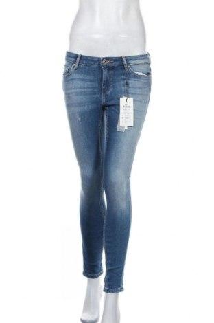 Дамски дънки ONLY, Размер S, Цвят Син, 87% памук, 11% полиестер, 2% еластан, Цена 18,01лв.