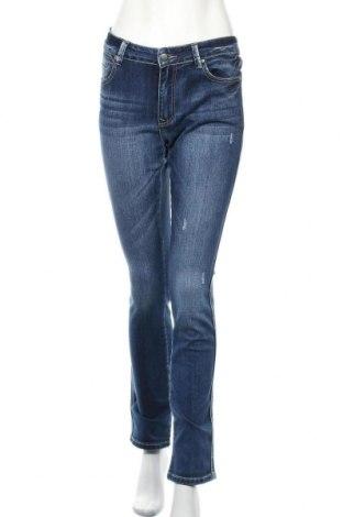 Дамски дънки Scarlet Jones, Размер L, Цвят Син, 85% памук, 13% полиестер, 2% еластан, Цена 21,04лв.