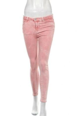 Дамски дънки Zara, Размер S, Цвят Розов, Цена 12,73лв.