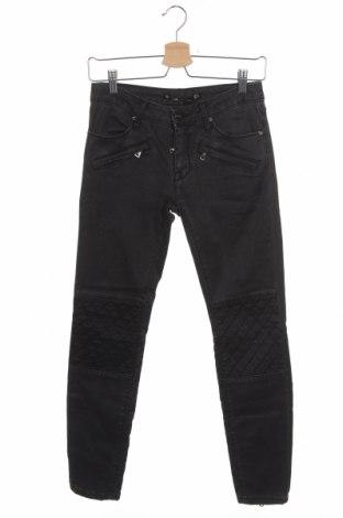 Дамски дънки Zara, Размер XS, Цвят Сив, 98% памук, 2% еластан, Цена 28,50лв.