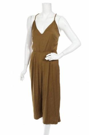 Дамски гащеризон Zara, Размер M, Цвят Зелен, Полиестер, Цена 15,60лв.