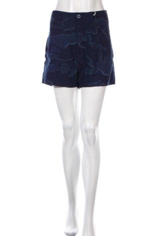 Дамски къс панталон G-Star Raw, Размер L, Цвят Син, Памук, Цена 15,48лв.
