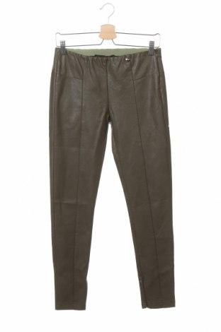Дамски кожен панталон CAFèNOIR, Размер M, Цвят Зелен, Еко кожа, Цена 74,25лв.