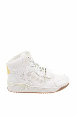 Γυναικεία παπούτσια Bershka, Μέγεθος 36, Χρώμα Λευκό, Δερματίνη, Τιμή 13,92€