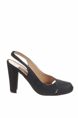 Дамски обувки Casadei, Размер 38, Цвят Черен, Текстил, Цена 84,66лв.