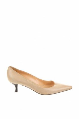 Дамски обувки Sergio Rossi, Размер 38, Цвят Бежов, Естествена кожа, Цена 84,66лв.