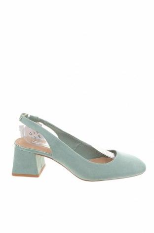 Γυναικεία παπούτσια Stradivarius, Μέγεθος 38, Χρώμα Πράσινο, Κλωστοϋφαντουργικά προϊόντα, Τιμή 8,18€