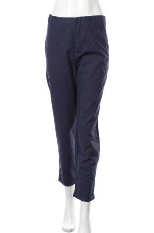 Дамски панталон, Размер S, Цвят Син, 55% лен, 45% памук, Цена 13,49лв.