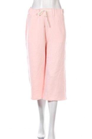 Дамски панталон, Размер L, Цвят Розов, 72% вискоза, 23% полиестер, 5% еластан, Цена 18,08лв.