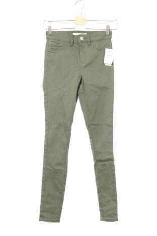 Дамски панталон Anko, Размер XS, Цвят Зелен, 64% памук, 34% полиестер, 2% еластан, Цена 13,36лв.