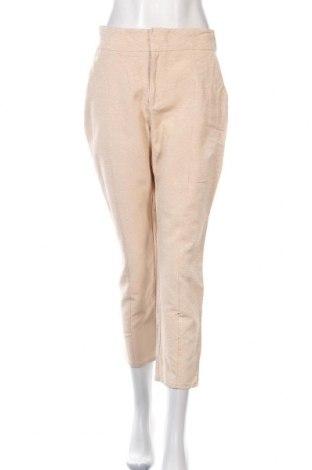 Дамски панталон Bardot, Размер M, Цвят Бежов, 59% памук, 41% вискоза, Цена 10,25лв.