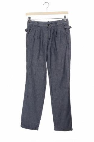 Дамски панталон Diesel Black Gold, Размер XS, Цвят Син, 80% памук, 20% лен, Цена 27,06лв.