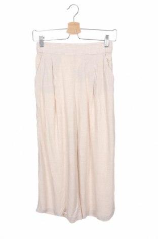 Дамски панталон H&M, Размер XS, Цвят Бежов, 95% вискоза, 5% лен, Цена 8,34лв.
