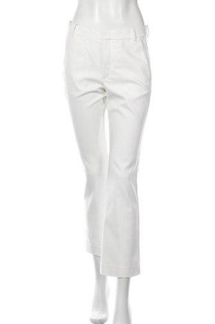 Дамски панталон In Wear, Размер S, Цвят Бял, 51% памук, 45% полиестер, 4% еластан, Цена 16,67лв.