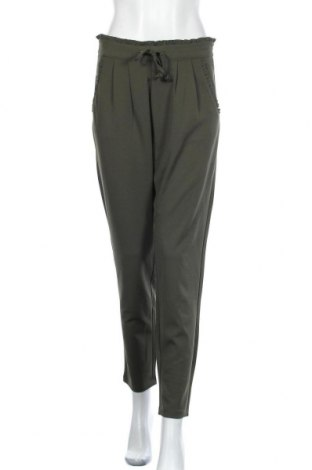 Дамски панталон Jacqueline De Yong, Размер M, Цвят Зелен, 95% полиестер, 5% еластан, Цена 42,00лв.