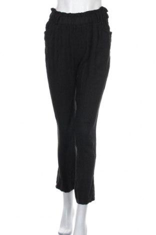 Дамски панталон La Fabrique Du Lin, Размер S, Цвят Черен, Лен, Цена 18,50лв.