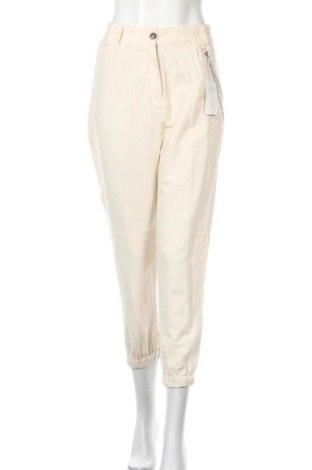 Дамски панталон Lefties, Размер XL, Цвят Екрю, 80% лен, 20% вискоза, Цена 18,88лв.
