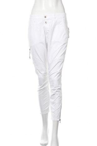 Дамски панталон MOS MOSH, Размер L, Цвят Бял, 97% памук, 3% еластан, Цена 10,76лв.