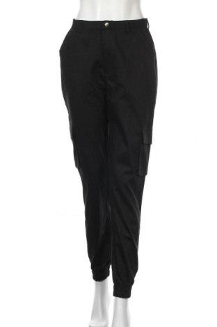 Дамски панталон Missguided, Размер M, Цвят Черен, Памук, Цена 13,84лв.
