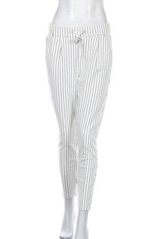 Дамски панталон ONLY, Размер M, Цвят Бял, 63% вискоза, 32% полиамид, 5% еластан, Цена 14,41лв.
