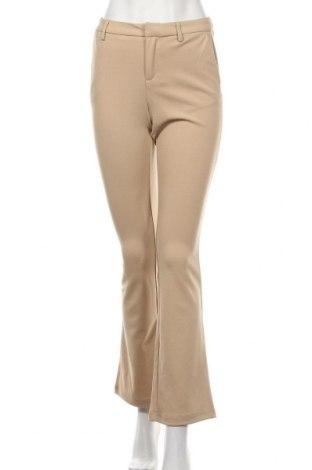 Дамски панталон ONLY, Размер S, Цвят Бежов, 95% полиестер, 5% еластан, Цена 51,75лв.