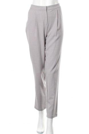 Дамски панталон Pieces, Размер L, Цвят Сив, 78% полиестер, 18% вискоза, 4% еластан, Цена 15,01лв.