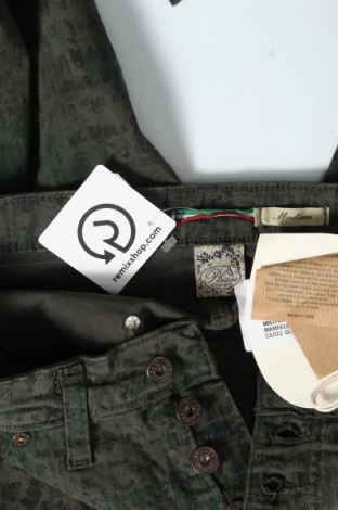 Дамски панталон Please, Размер M, Цвят Зелен, 97% памук, 3% еластан, Цена 23,22лв.